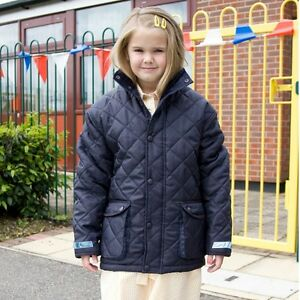 18e0cf869d8e KIDS CHILDS YOUTHS DIAMOND QUILTED JACKET COAT 2cols WARM PADDED ...