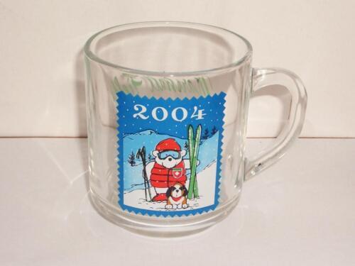 Unused! 2004 Marshall Field/'s  SANTA BEAR  Glass Mug