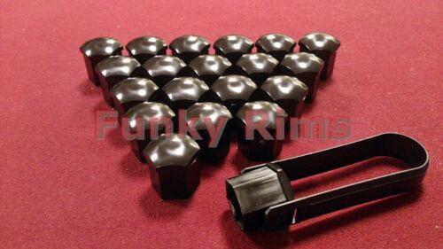 19mm Hex Set di 20 Nero Dado//Bullone Tappo copre /& Strumento di installazione