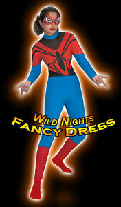 SALE-FANCY-DRESS-COSTUME-D-LADIES-MARVEL-spiderman-SPIDERGIRL-SIZE-10-12