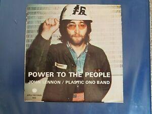 1971-JOHN-LENNON-034-POWER-TO-THE-PEOPLE-034-45rpm-amp-SLEEVE-MINT-MINUS