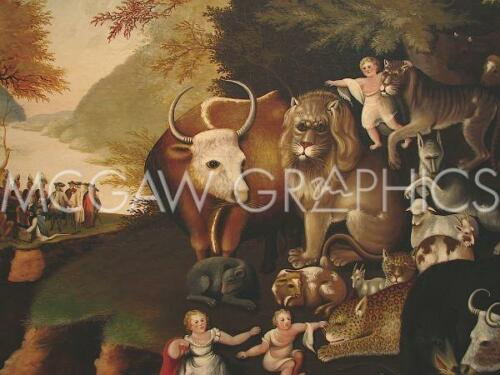 "1526 PEACEABLE KINGDOM ART PRINT POSTER 11/"" X 14/"" HICKS EDWARD"