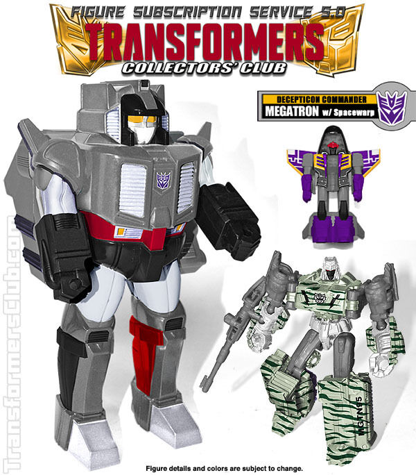 TFSS MEGATRON & SPACEWARP Transformers Subscription Collectors Club BRAND NEW