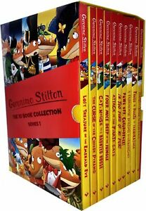 Geronimo-Stilton-10-Books-Collection-Set-Series-1-Cat-and-Mouse-in-a-Haunted-NEW