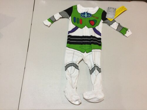 NWT Disney Store Buzz Lightyear Costume Sleeper 0 3 6 9 12 18 24mo Baby Boy