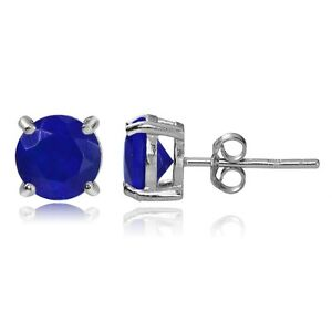 Sterling-Silver-1-10ct-Blue-Ethiopian-Opal-6mm-Stud-Earrings