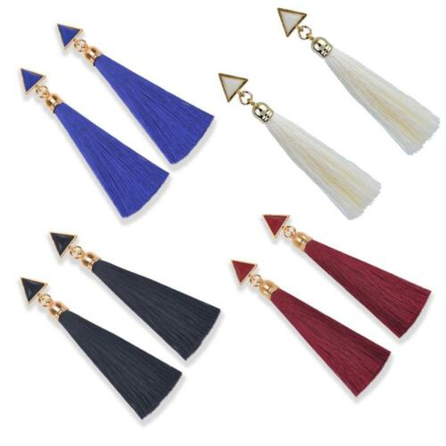 Mode Femmes Lady Strass Long Tassel Dangle Earrings Drop Nouveau Stud Bijoux