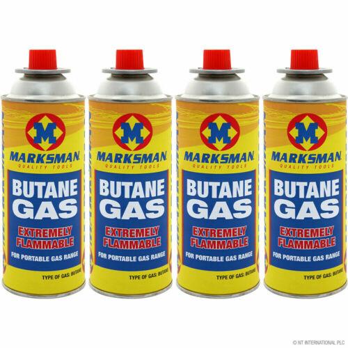 28x Marksman Butane Gas Cartridge for Camping Caravan Portable Cooking Stoves