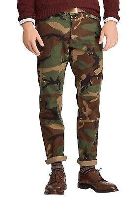 Polo Ralph Lauren Prospect Straight Pants Mens 38 x 32 Camo Corduroy NWT $125