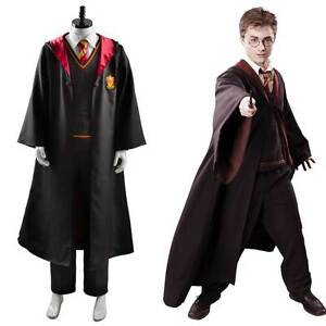 Harry Potter Ron Weasley Gryffindor School Uniform Cosplay Costume Robe Outfit | eBay