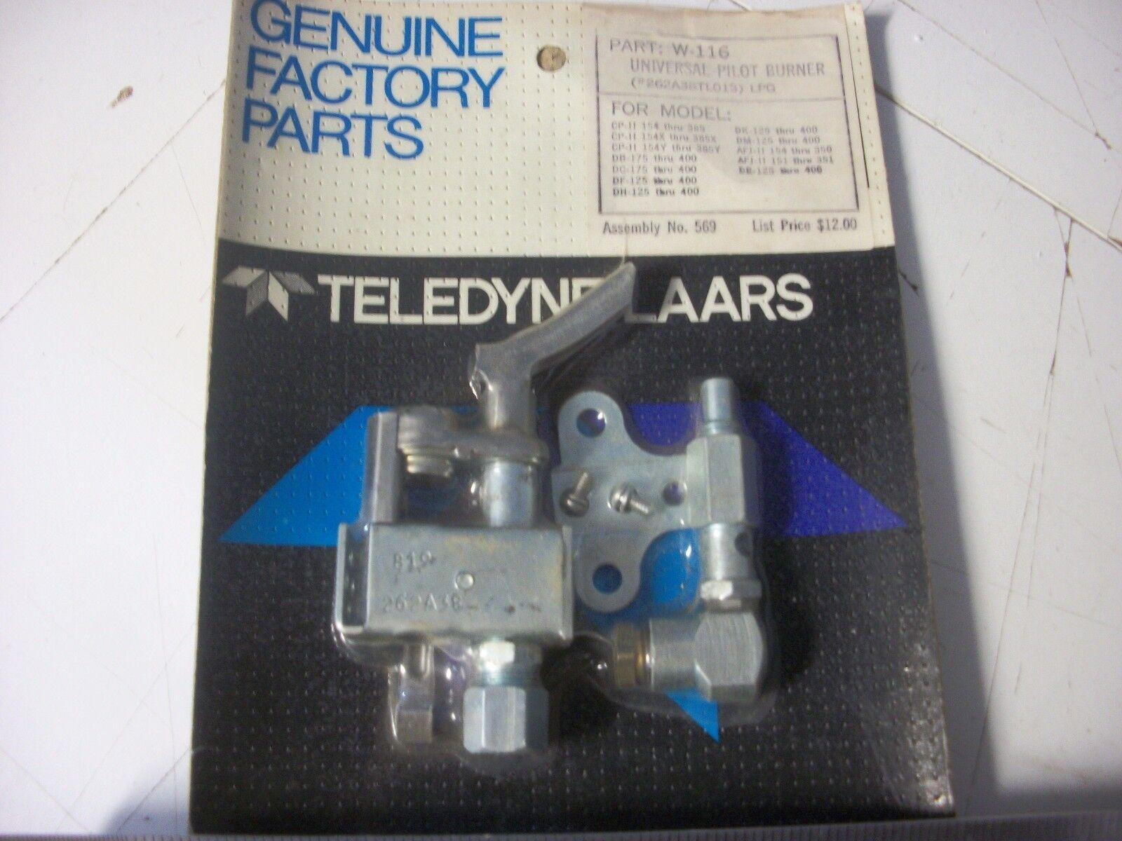 Teledyne Laars W-116 Universal conjunto del piloto, Gas Lp