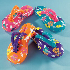 dfff97c2e630a7 24+ Inflatable Flip Flop Flops Luau Party Decor Favors Beach Sandals ...