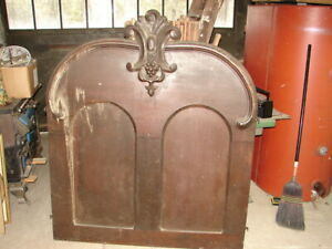 Walnut-Victorian-Bed-Panel-w-Great-Crest-WAREHOUSE-SOLD-MANY-ITEMS-MUST-GO