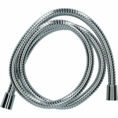 1.5m Chrome-Plated Brass Shower Hose Universal Fit Double Crimped Flexible Pipe