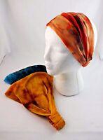 Tie Dye Headband Extra Wide Jersey Stretch Elastic Back Kerchief