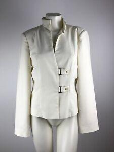 AVANT-Italy-Ecru-Dual-Button-Buckle-Blazer-Jacket-Women-039-s-Euro-48-Medium