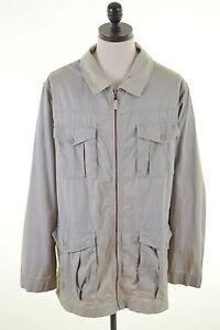 TIMBERLAND-Mens-Military-Jacket-Size-42-Large-Grey-Cotton