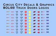 MOW Truck Door Logo Decals BNSF CN NS KCS CNW WSOR CP CSX