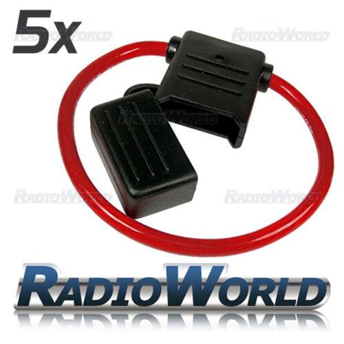 5x a prueba de salpicaduras 100 A 12v 24v Inline Maxi fusible de Cuchilla titular 8awg coche van de cableado