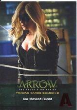 Arrow Season 2 Red Foil Parallel Base Card #11 Our Masked Friend