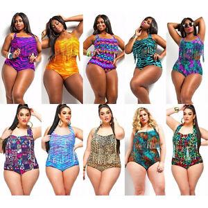 c78b1311979ea Swimsuit Plus Size 2 Piece High Waist Tassel Bikini Set Push Up ...