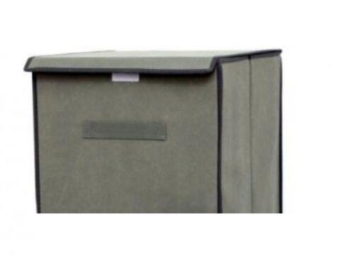 Panier à linge Lave-Linge De Conservation Panier à linge avec couvercle en tissu gris Alumin
