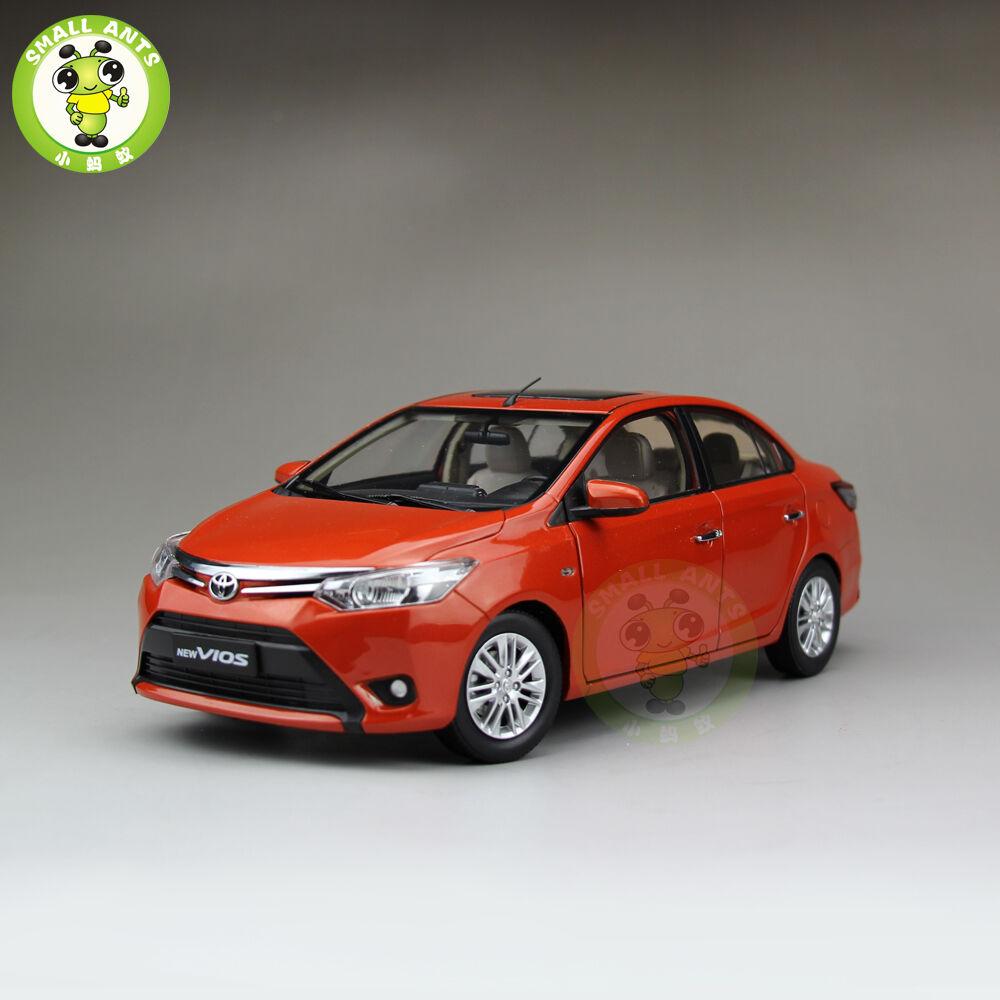 18 toyota neue vios druckguss auto modell zur sammlung geschenke hobby Orange