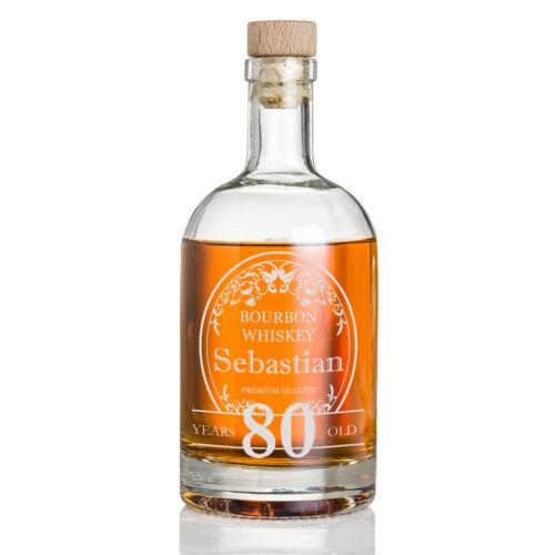 Whisky Flasche inkl. Wunschgravur Motiv Ornamente im Kreis
