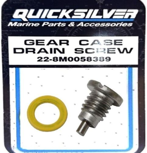 """Mariner Gear Case Magnetic Oil Drain Screw 3//8/"""" Outboard Engines 22-8M0058389"""