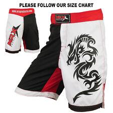 MMA Shorts Grappling Short UFC Cage Fight Kick Boxing MRX Red / White / Black XL