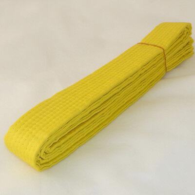 NEW Karate Belt Taekwondo Belt Martial Arts MMA Hapkido Double Wrap Belts-YELLOW