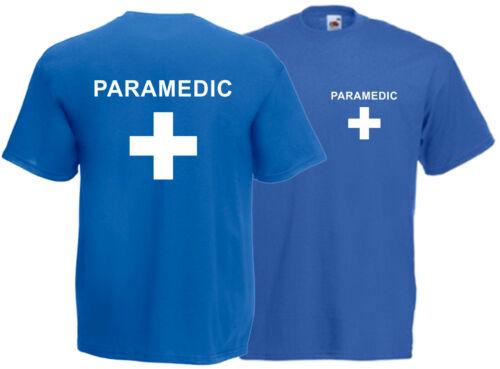 Paramedizinisch T-Shirt Vorder und Rückseite Unisex Erste Hilfe Event Staff