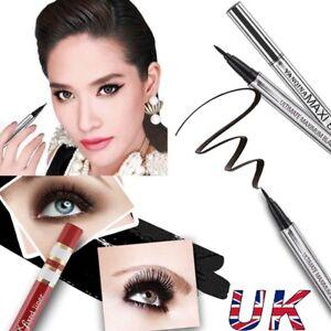 Details About 2 Maxi Black Thin Precision Liner Vamp Eyeliner Seal Stamp Winged Makeup Uk Hot