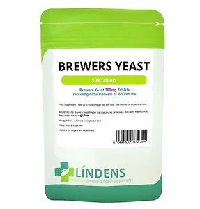 Bierhefe-300mg-500-Tabletten-Vitamin-B-B1-B2-B5-B6-Biotin-probiotischen-Brauereien