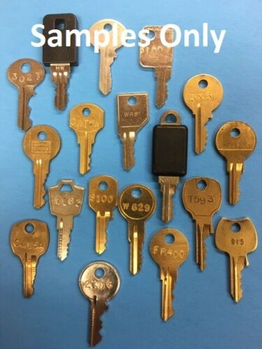 File Cabinet Keys Cut to Code for  Haworth Knoll YALE Global Chicago ASCO HON