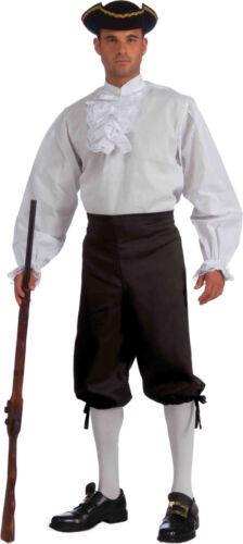 Men/'s White Ruffled Shirt Colonial Pirate Vampire Shirt Adult Size Standard