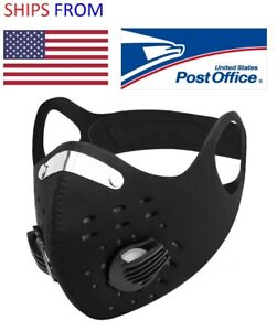 Outdoor Sports Face Cover Built in Filter + 3 Extra Filters US SELLER