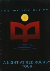 MOODY BLUES 1993 A NIGHT AT RED ROCKS TOUR CONCERT PROGRAM BOOK / VG 2 NMT
