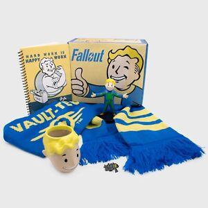 CultureFly NEW Fallout Collectors Box-Vault Boy Planter,Scarf,Vinyl Figure,pin