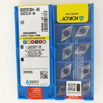 KORLOY DCGT 32.51-AK DCGT 11T304-AK H01 Carbide Inserts for Aluminum 10 PCS