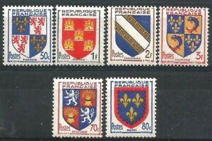 France-1952-YT-n-951-a-954-et-958-959-neufs-Luxe