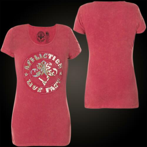 Damen Rot T Patchwork shirt Affliction Divio dwXxnB