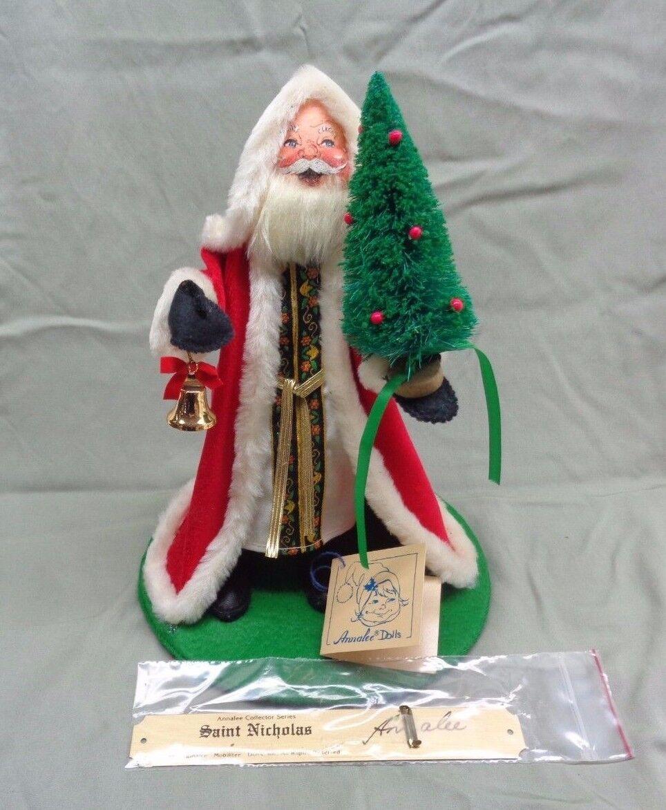 1988 St Nicholas Navidad Annalee con placa firmada Nuevo Viejo Stock