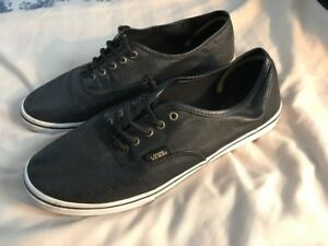 Image is loading Vans-Leather-Shoes-Black-Men-039-s-Size- b158f9651f0a