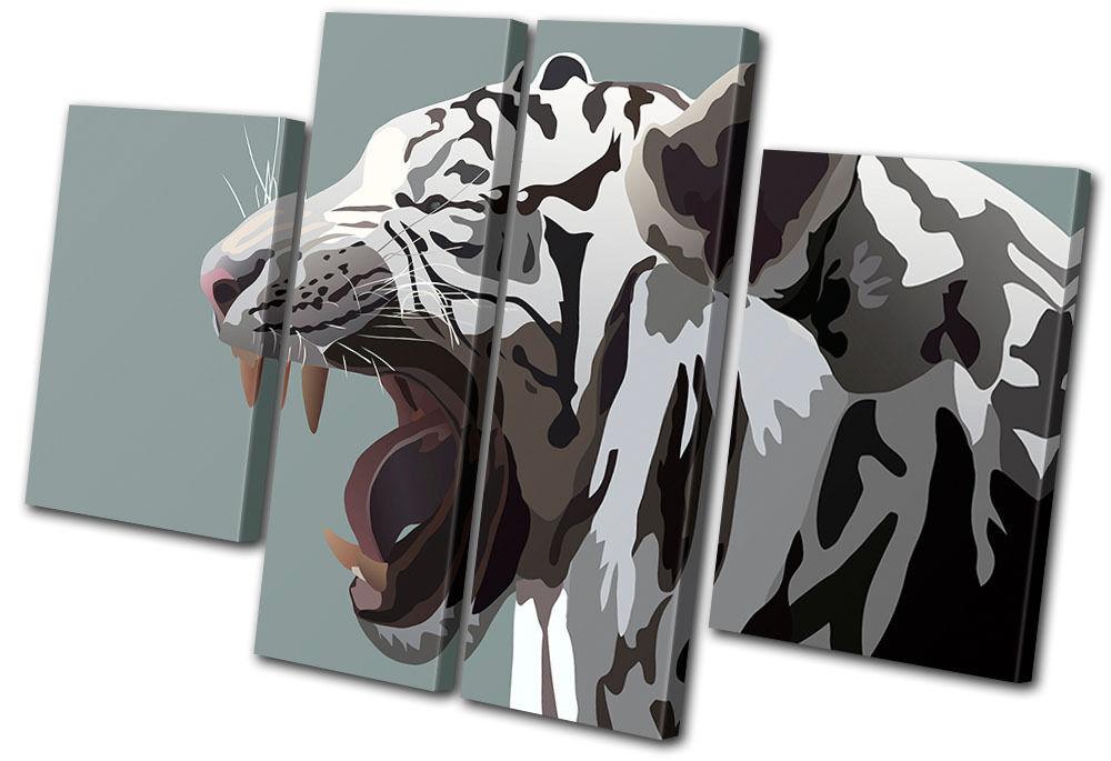 Animals White Tiger MULTI LONA impresion pared arte Foto impresion LONA 9aa736