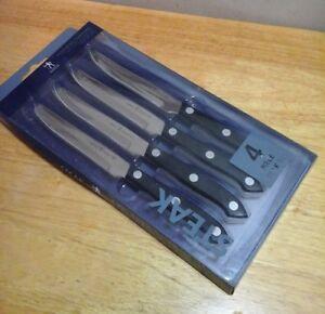 J A Henckels Gourmet 4 Piece Steak Knife Set Never Needs