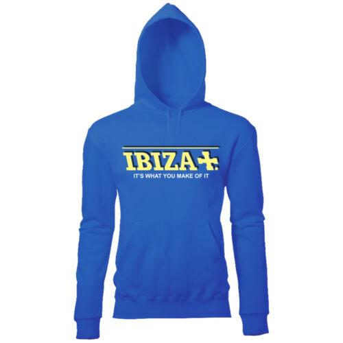 IBIZA ITS WHAT YOU MAKE OF IT RIZLA STYLE WOMENS HOODIE