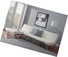 DHP Emily Chaise Lounger Vanilla  sc 1 st  eBay : emily chaise - Sectionals, Sofas & Couches