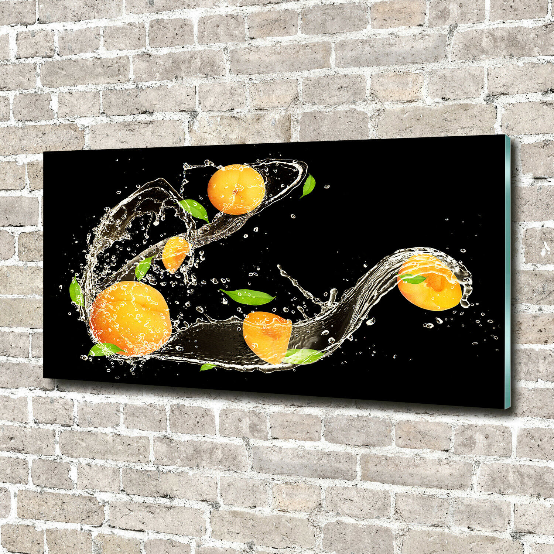 Acrylglas-Bild Wandbilder Druck 140x70 Deko Essen & Getränke Aprikosen Wasser
