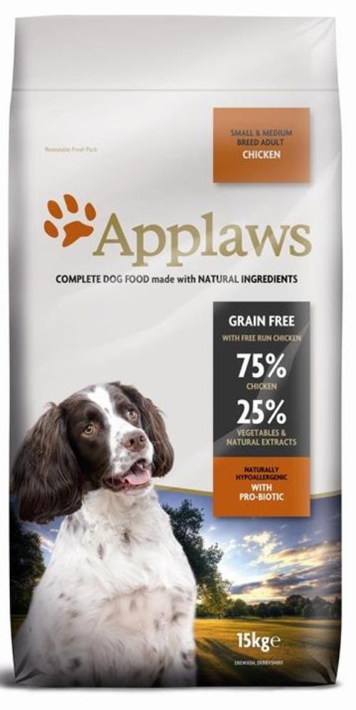 Applaws Adult Small & Medium Breed Huhn 15kg Hundefutter getreidefrei